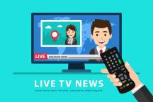 holding-remote-control-and-watching-tv-news-vector
